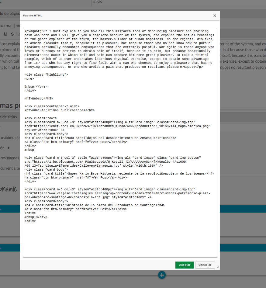 html bootstrap omeka